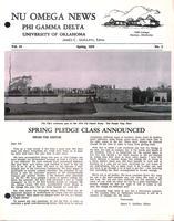 1970 Spring Newsletter Nu Omega (University of Oklahoma)