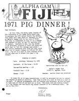 1971 c. Newsletter Alpha Gamma (Kettering University)