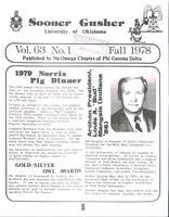 1978 Fall Newsletter Nu Omega (University of Oklahoma)