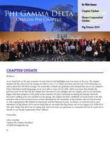 2018 Fall Newsletter Upsilon Phi (University of Florida)