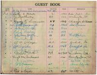 1926 Guest Book Signatures - Opening of the University of Iowa Chapter House...