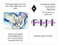2021 Pig Dinner Program for the Epsilon Iota Chapter at the University of Evansville...