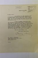 Letter describing Frank Norris (University of California Berkeley 1894) Banjo...