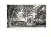 Chapter House at Chi Mu at University of Missouri c. 1927