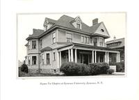 Chapter House at Sigma Nu at Syracuse University c. 1927