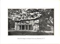 Chapter House at Theta Psi at Colgate University c. 1927