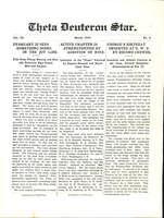 1912 March Newsletter Theta Deuteron (Ohio Wesleyan University)