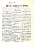1912 Spring Newsletter Theta Deuteron (Ohio Wesleyan University)