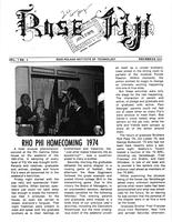 1974 November Newsletter Rho Phi (Rose-Hulman)