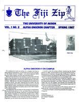 1987 Spring Newsletter Alpha Omicron (University of Akron)